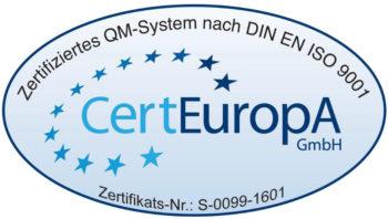 Logo Zertifizierung nach DIN