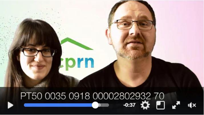Dirk und Stavroula sammeln mit Hilfe eines Videos Spenden.