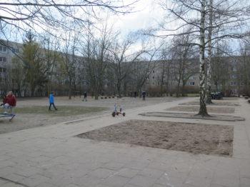 Leerer Garten im Hort Jessener Straße