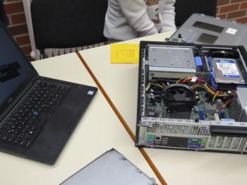Wie ein Computer von Innen aussieht, das erklärten Mitarbeiter der Firma DELL